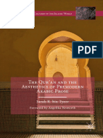 (Literatures and Cultures of the Islamic World) Sarah R. Bin Tyeer (Auth.)-The Qur'an and the Aesthetics of Premodern Arabic Prose-Palgrave Macmillan UK (2016)