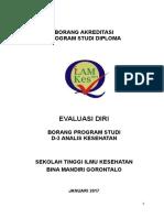 STIKES Bina Mandiri Gorontalo Di Kota Gorontalo Analis Kesehatan BR STD EVALUASI DIRI1 25052017223115