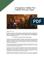 Angel Faretta - Crítica - Los Vengadores - Infinity War - 2018