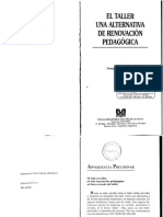 El Taller Una Alternativa De Renovacion Pedagogica.pdf