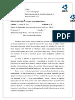 Protocolo de Registro de Observações - 03