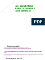 Tema 3. Contabilitatea operațiunilor cu numerar în băncile comerciale