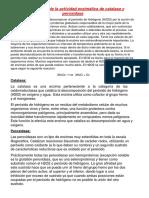 Demostración de La Actividad Enzimática de Catalasa y Peroxidasa