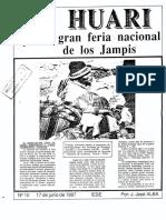 Huari. La Gran Feria Nacional de Los Jampis