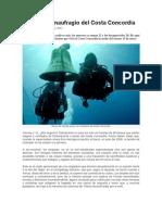 Crónica Del Naufragio Del Costa Concordia