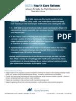 Health Care Reform Legislation Information for Business and Manufacturers