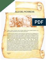 Batalla Del Pichincha Pergamino