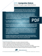 Immigration Reform Legislation ManuFACT for Business and Manufacturers