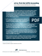 Last-In First-Out (LIFO) Accounting Legislation for Business and Manufacturers