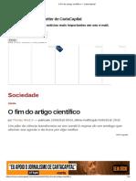O Fim Do Artigo Científico — CartaCapital