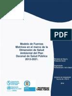 Modelo de Fuerzas Motrices en El Marco de La Dimension de Salud Ambiental Del Plan Decenal de Salud Publica 2012 2021