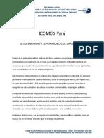 La Autenticidad y El Patrimonio Cultural Del Peru