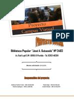 """Proyecto Campus Virtual Biblioteca Popular """"José A. Guisasola"""""""