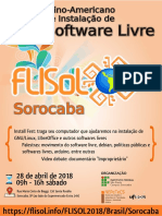 20180428 FLISOL Sorocaba - Cartaz A4