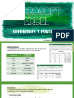 Operadores y Funciones - Excel