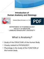 1. Anatomy Histology Introduction