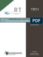 Minissimulado Regimento Código DPCD (TRT1 RJ)