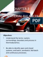 CHAPTER 3 (Material Balances)