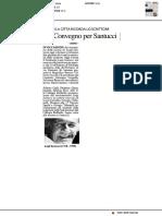 Un convegno per Santucci - Il Resto del Carlino del 24 maggio 2018