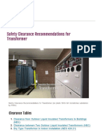 Safety Clearance Recom for Transformer