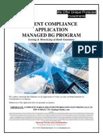 Blader Client Compliance Application Managed BG Program