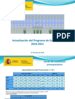 Actualización Programa de Estabilidad Reino de España 2018-2021