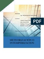 Meteorizacion e Intemperizacion