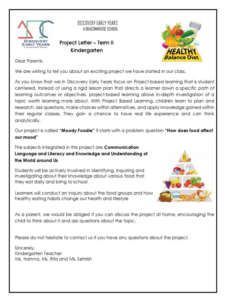 project letter kg food