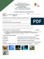 Evaluacion Primer Parcial de Ciencias naturales
