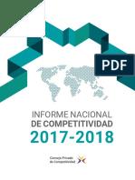 Informe Nacional de Competitividad