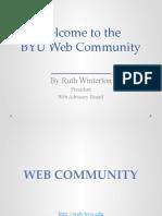 Tri-Annual BYU Online Communications Orientation Meeting