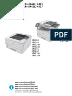 HP LJ Pro m402 m403 m426 m427 Service Manual & Parts catalog