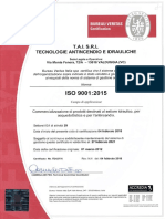 t.a.i. Certificato Iso 9001