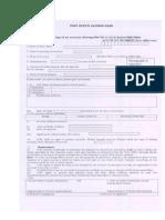 Sukanya Samriddhi Account Opening Form