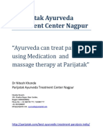 Ayurveda can treat paralysis using medication and massage therapy at parijatak