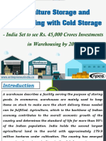 Agriculture Storage and Warehousing with Cold Storage