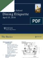 Graduate School Dining Etiquette 15apr14