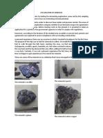 Exploration of Minerals