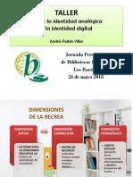 """Taller """"Desde la identidad analógica a la identidad digital"""""""