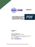 G-01 KAN Guide on Measurement Uncertainty (en)