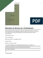 36911184 Jiddu KrishnaMurty Education as Service