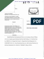Hard Rock Cafe v. Hard Rock Hotel & Casino Complaint