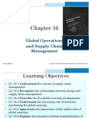 IIB - Slides - Global Operations and Supply Chain Management