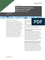 Forrester Wave Data Governance Stewardship Applications 2016 - PDF