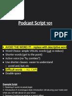 podcast script 101