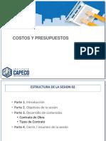 F2B. Presentación de La Sesión 2.1 Ver - 1 Costos y Presupuestos - Rocío Otoya