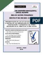 DIRECTIVA DEL KIT DE EVALUACIÓN SECUNDARIA 2018