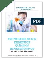 Informe de laboratorio N°2 - química