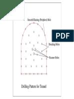 Drilling & Blasting Pattern for Waki Tunnel-Model