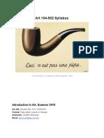 ART 104-502 Syllabus SU 2018